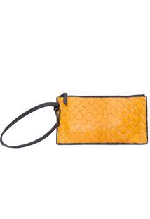 Bolsa Feminina Pirarucu Mini Pouch - Amarelo