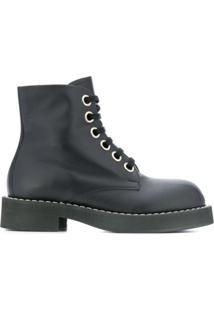 Marni Ankle Boot Com Amarração - Preto
