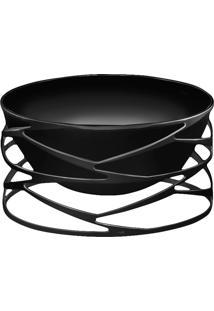 Saladeira Trama Black Níquel - Riva