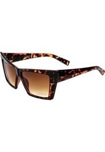 Óculos De Sol Ray Flector Vtg583 Co Feminino - Feminino-Marrom