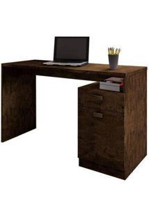 Escrivaninha Delta 01 Porta Benetil Móveis -Avelã Ipê