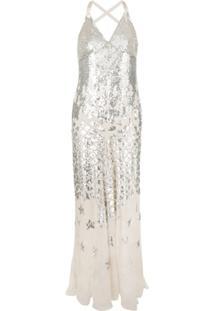Temperley London Vestido 'Starlet' Com Paetês - Neutro