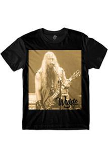 Camiseta Bsc Astros Do Rock Zakk Wylde Sublimada Masculina - Masculino-Preto