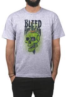 Camiseta Bleed American Bope Cinza Mescla