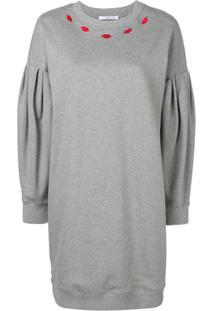 Vivetta Crew Neck Sweater Dress - Cinza
