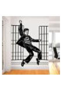 Adesivo De Parede Elvis Presley Dançando - G 72X58Cm