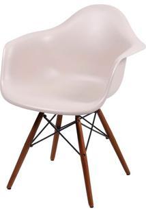 Cadeira Eames Com Braco Base Escura Fendi Fosco - 44883 - Sun House