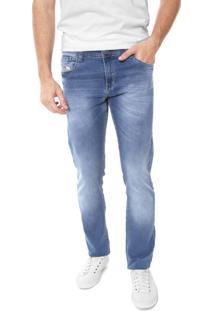 Calça Jeans Rowers Reta Estonada Azul