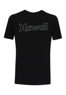 Camiseta Hurley Silk Hawaii Outline - Masculina - Preto