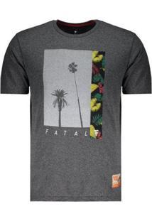 Camiseta Fatal Estampada Logo - Masculino-Cinza