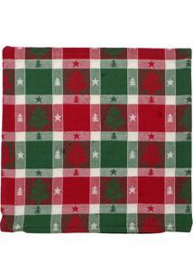 Capa Para Almofada ÁRvores De Natal- Vermelha & Verde