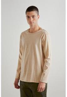 Camiseta Reserva Malha Terra Masculino - Masculino-Bege