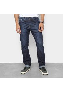 Calça Jeans Slim Replay Estonada Cintura Média Masculina - Masculino-Jeans