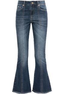 Calça Jeans Flare Cropped Berkely
