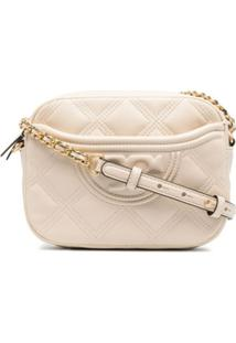 Tory Burch Bolsa Transversal Fleming - Neutro