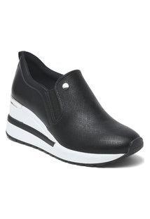 Tênis Feminino Anabela Sneaker Via Marte Slip On 21-1202 Preto
