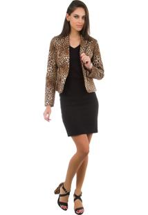 Blazer Animal Print Estampado