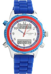 Relógio Mondaine 99180G0Mvni2 Prata / Azul