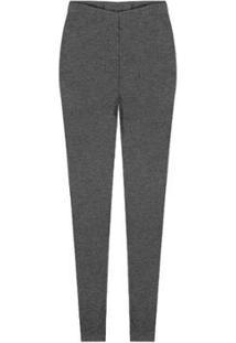 Calça Legging Plus Size Rovitex Premium Feminina - Feminino-Cinza