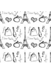 Papel De Parede Adesivo I Love Paris (0,58M X 2,50M)