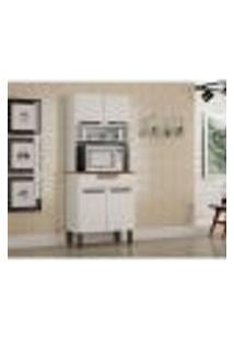 Cozinha Compacta Turim 4 Pt 1 Gv Branca