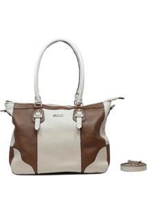 Bolsa De Couro Recuo Fashion Bag Sacola Cacau