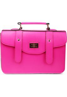 Bolsa Carteiro Real Arte Neon Rosa