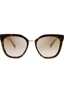 Hickmann Hi9079 - Tartaruga/Dourado - Espelhado Dourado - G21/54 - Óculos De Sol