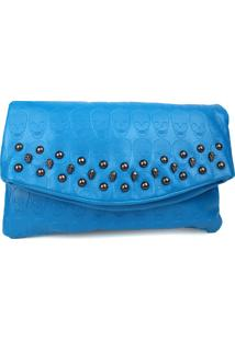 Bolsa Carteira Real Arte Caveiras Azul