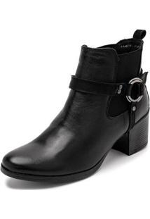 Bota Sandalo Clave De Fa Lira Feminina - Feminino-Preto