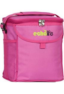 Bolsa Térmica Rosa 9 Litros Com Alça Ajustavel - Echolife