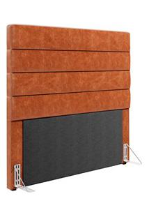 Cabeceira Cama Box Solteiro 90Cm Grécia D05 Couríssimo Camel - Mpozena