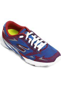 Tênis Skechers Go Meb Speed 3 2016 Masculino - Masculino-Azul+Vermelho