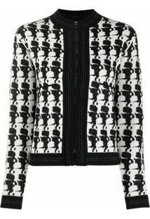 Karl Lagerfeld Jaqueta Ikonik Com Zíper - Preto