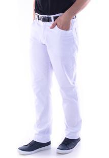 Calça 3025 Sarja Traymon Regular Branca