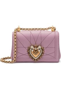 Dolce & Gabbana Bolsa Transversal Devotion Pequena - Rosa