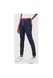 Calça Jeans Grifle Company Skinny Barra Italiana Azul-Marinho