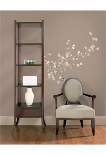 Adesivos De Parede Roommates Colorido Silver Dollar Branch Peel & Stick Giant Wall Decal