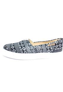 Tênis Slip On Quality Shoes Feminino 002 Étnico Brilho 32