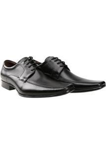 Sapato Social Couro Democrata Premier - Masculino-Preto