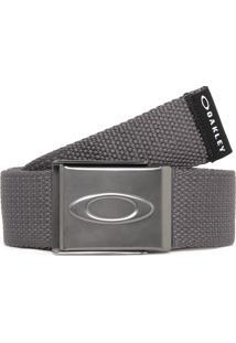 Cinto Oakley Ellipse Web Belt Cinza