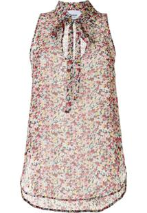 Dondup Blusa Floral Sem Mangas - Rosa
