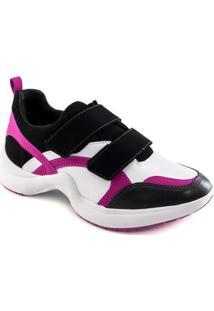 Tênis Ramarim Sneaker Chunky Trainer Feminino - Feminino-Preto+Pink