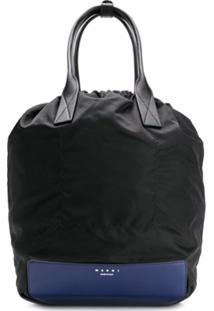 Marni Top-Handle Drawstring Backpack - Preto