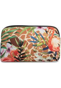 Necessaire Em Neoprene Tritengo - Girafa Flamingos Floral - Feminino