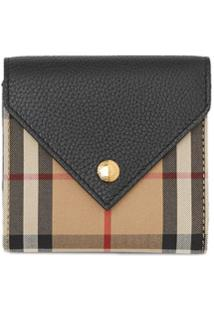 Burberry Carteira Vintage Check - Preto