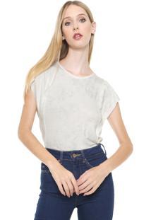 Blusa Calvin Klein Jeans Brilho Espatulado Off White