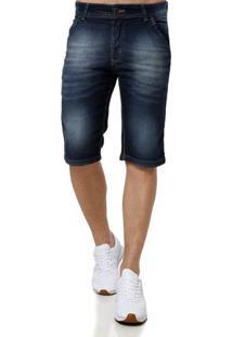 Bermuda Jeans Masculina Vels Azul