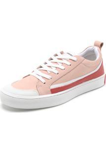 94c6a72dd91b8 ... Tênis Couro Calvin Klein Recorte Rosa