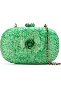 Serpui Clutch De Palha - Green